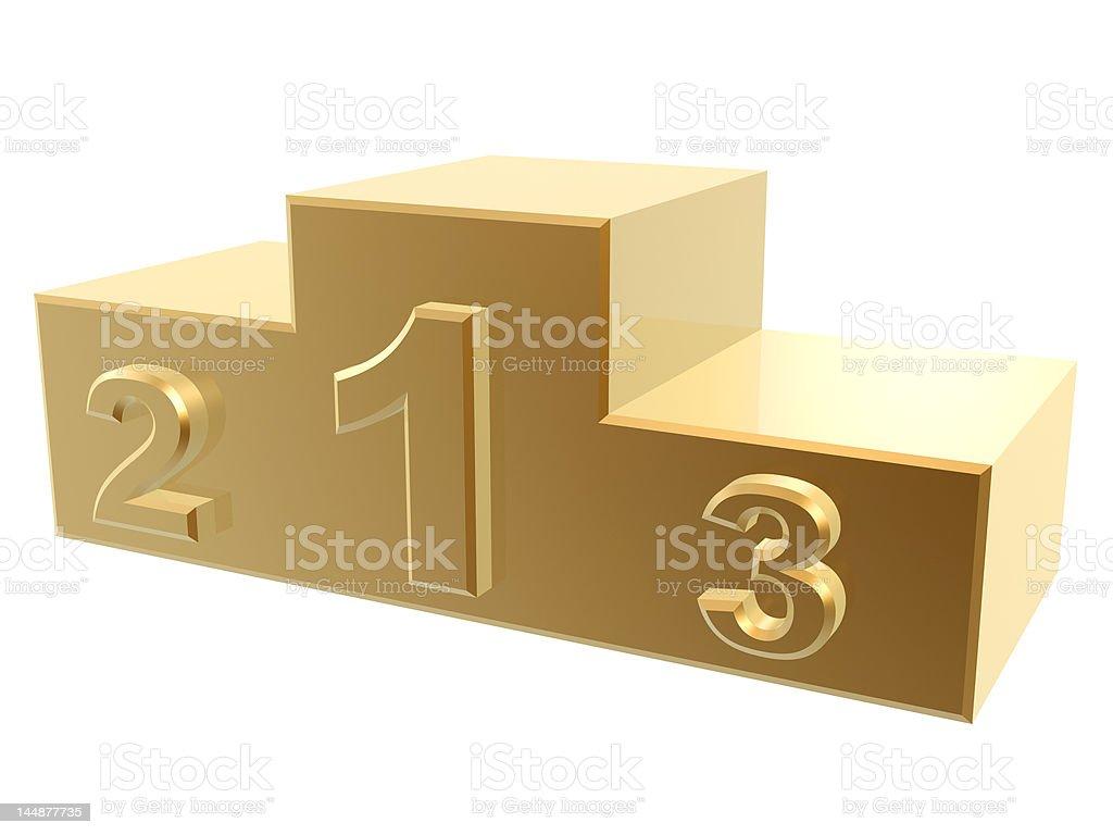 golden podium royalty-free stock photo