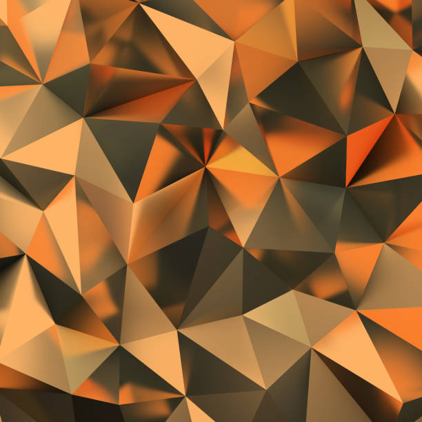 Cтоковое фото golden polygonal background