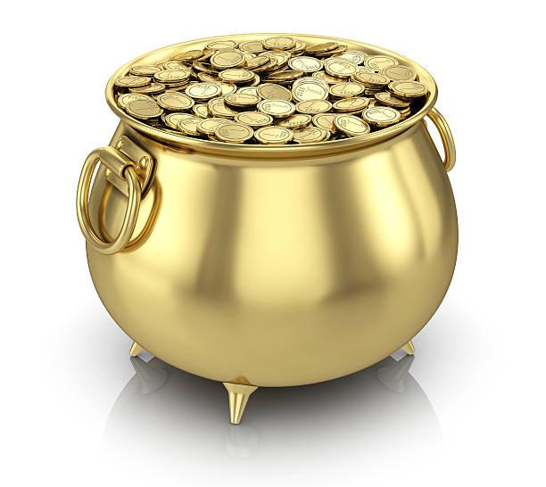 Pot of gold-Münzen – Foto