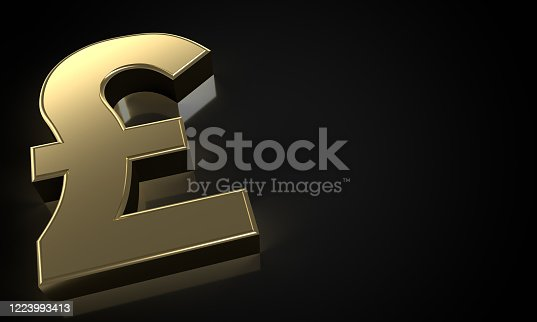 621262396 istock photo golden Pound sign (clipping path) 1223993413