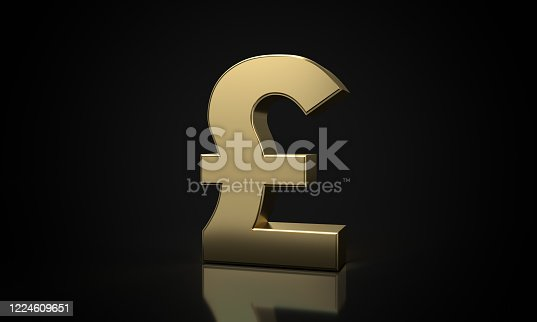 621262396 istock photo golden Pound sign (clipping path) 1224609651