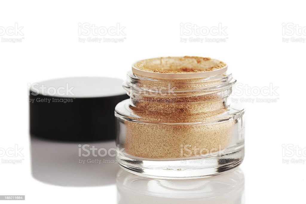 Golden powder eye shadow royalty-free stock photo