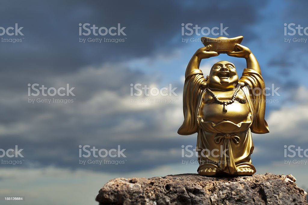 Golden Prosperity Buddha stock photo