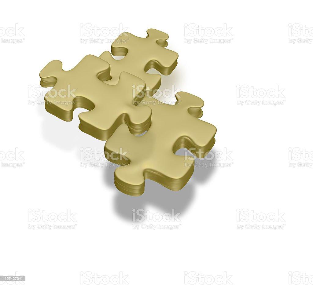 Golden puzzle stock photo