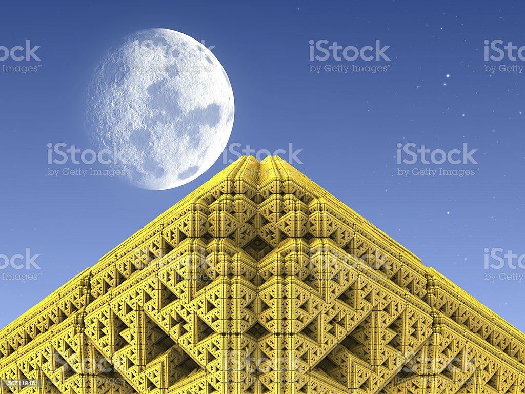 Golden Pyramid stock photo