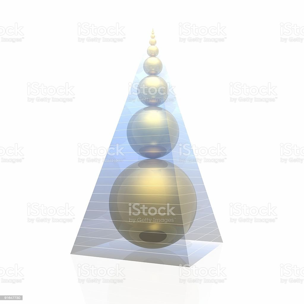 golden pyramid royalty-free stock photo