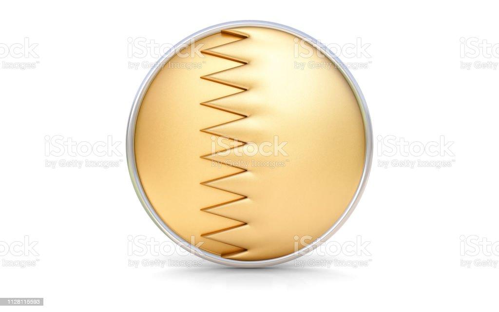 Bandera Qatar oro - foto de stock