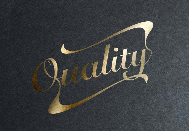 golden quality stamp - logo stock photos and pictures