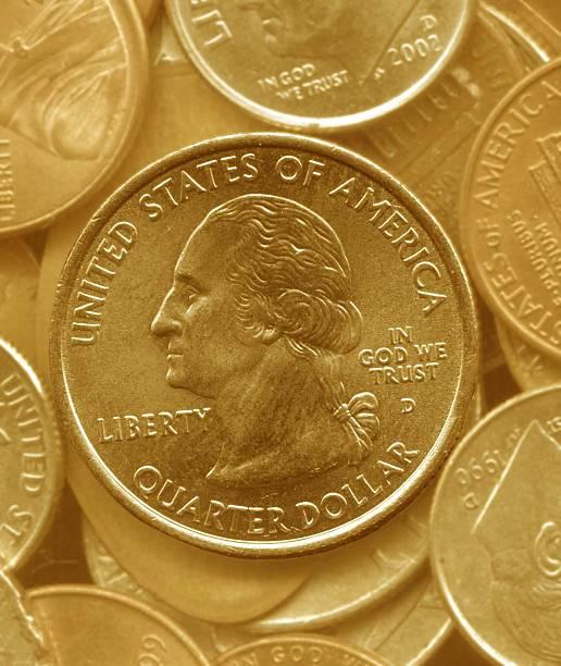 golden quarter stock photo