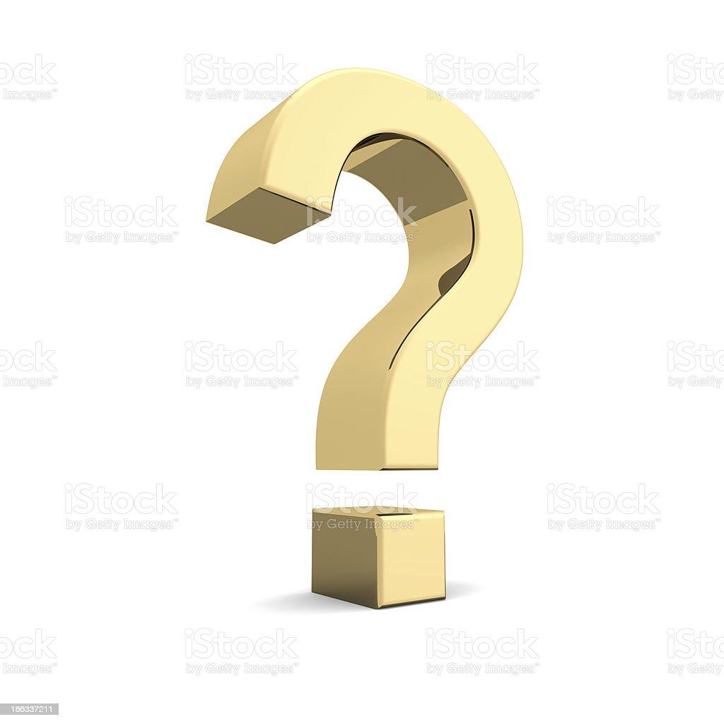 Golden question mark foto