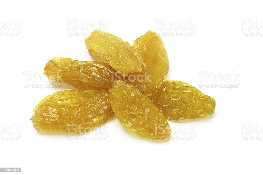 Golden raisins stock photo