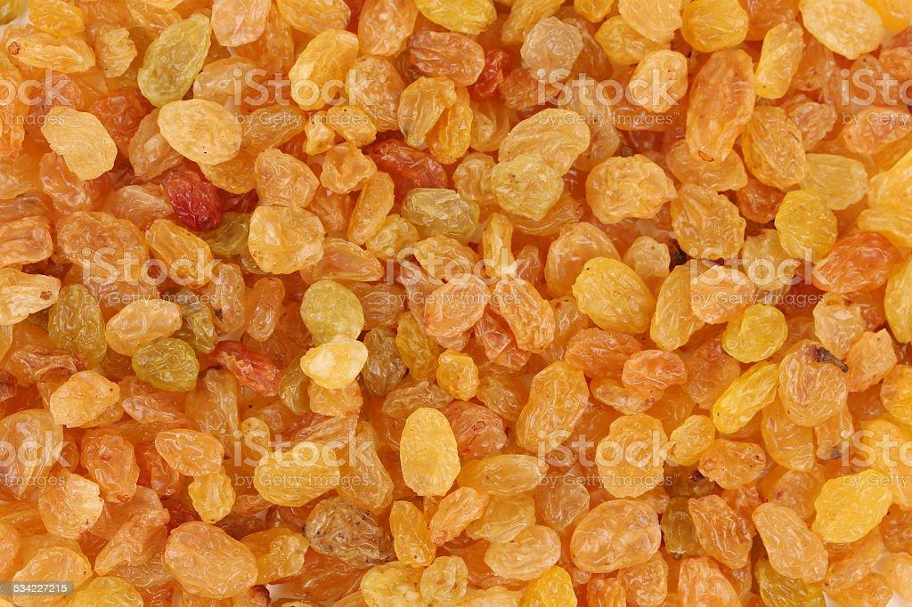 Golden raisins. stock photo