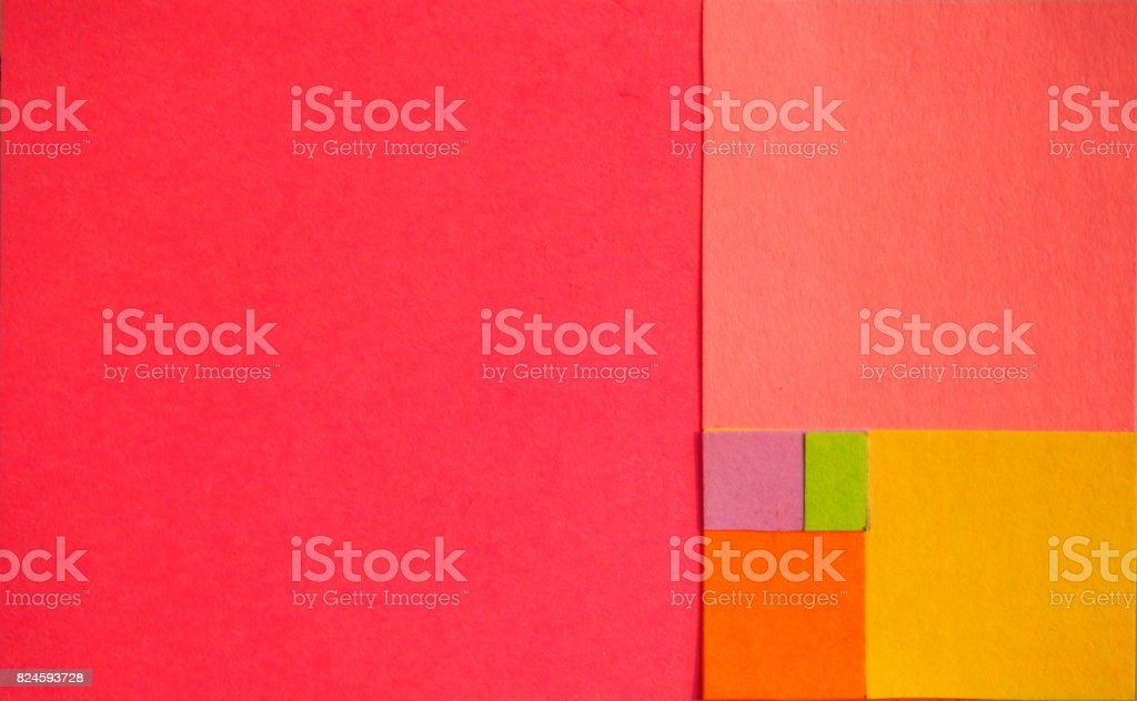 Golden ration hand made paper stock photo
