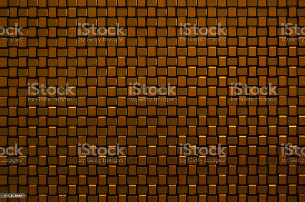 Golden Rectangular Pattern Background and Texture stock photo