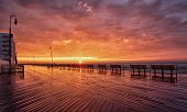 Sunrise on the Long Beach NY boardwalk
