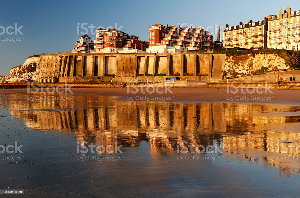 Golden reflections. stock photo