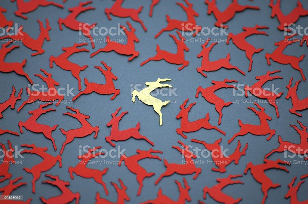Golden Reindeer royalty-free stock photo