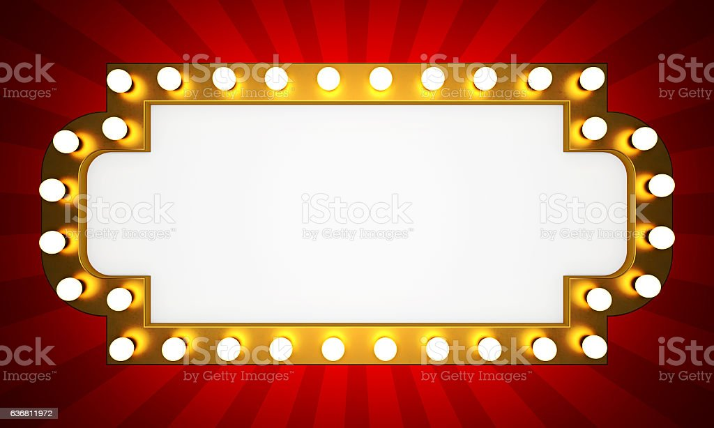 Golden retro cinema banner stock photo