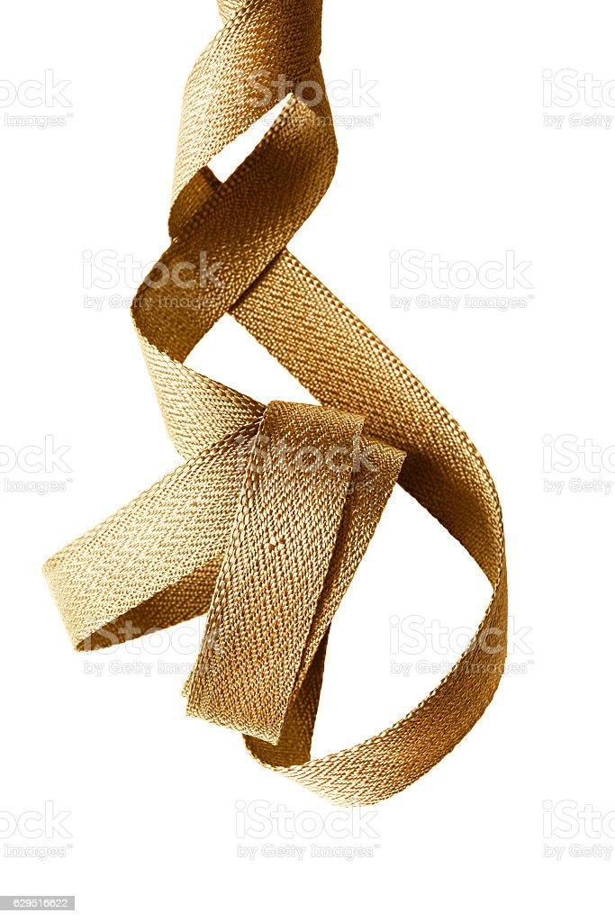 Fita dourada isolada - foto de acervo