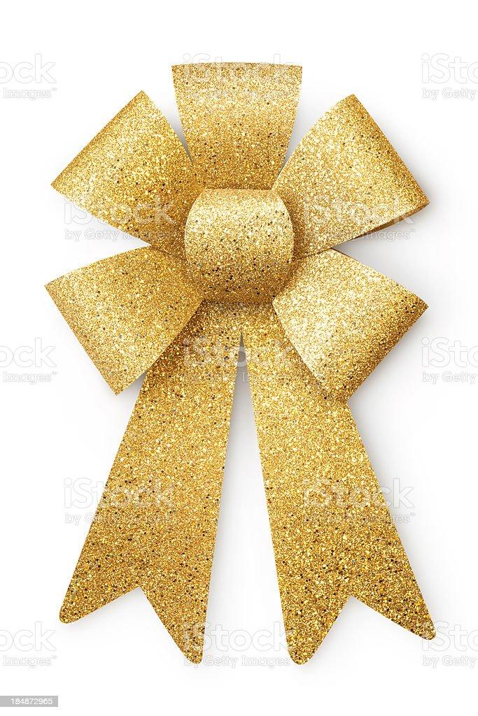 Golden ribbon royalty-free stock photo