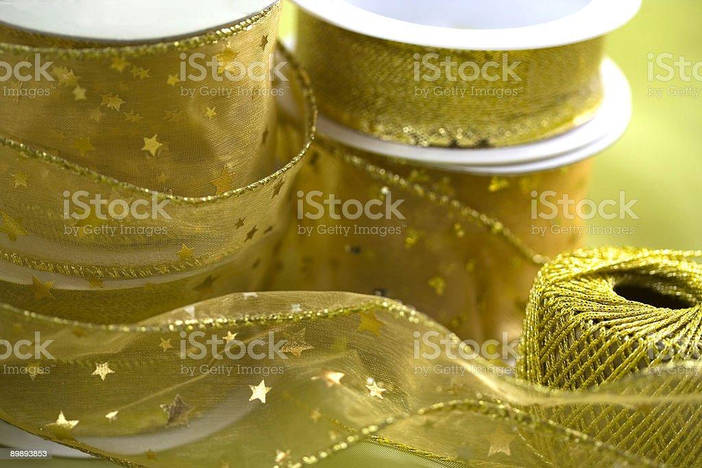 Golden ribbons royalty-free stock photo