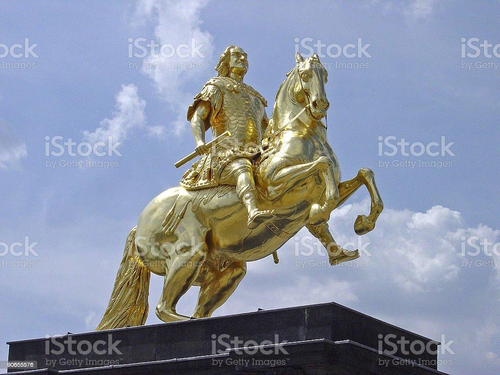 Golden Fahrer mit King-Size-Bett, die starke 1673-1733 August – Foto