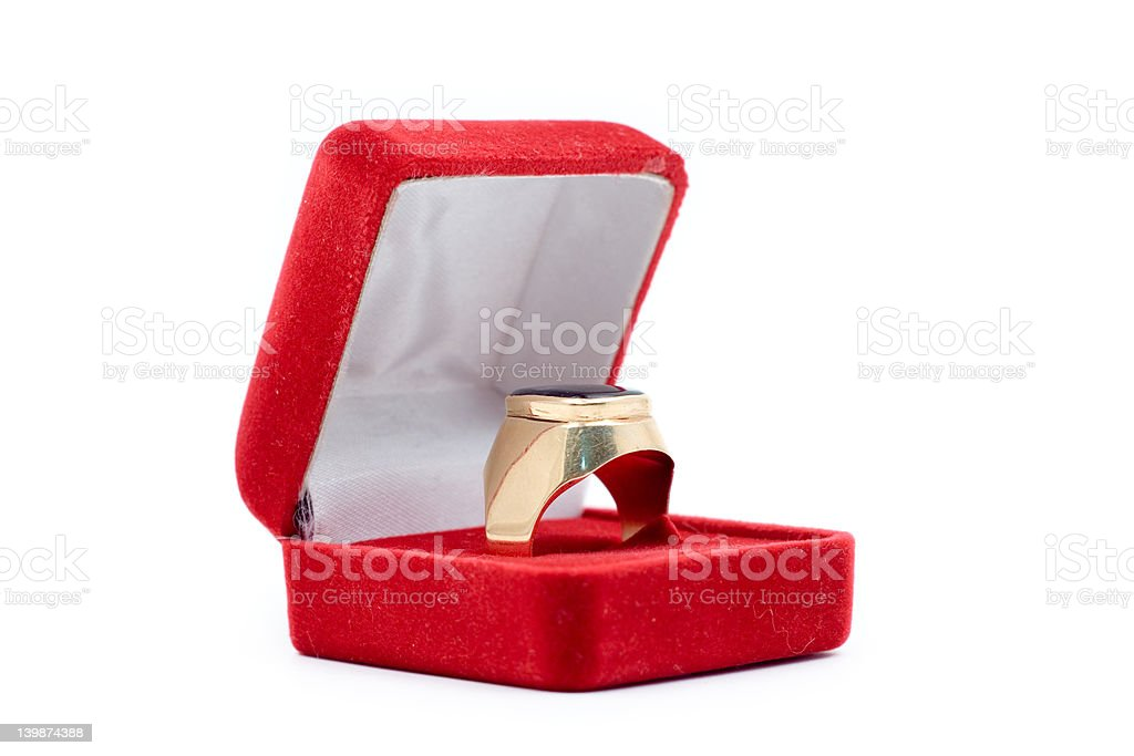 Golden ring royalty-free stock photo