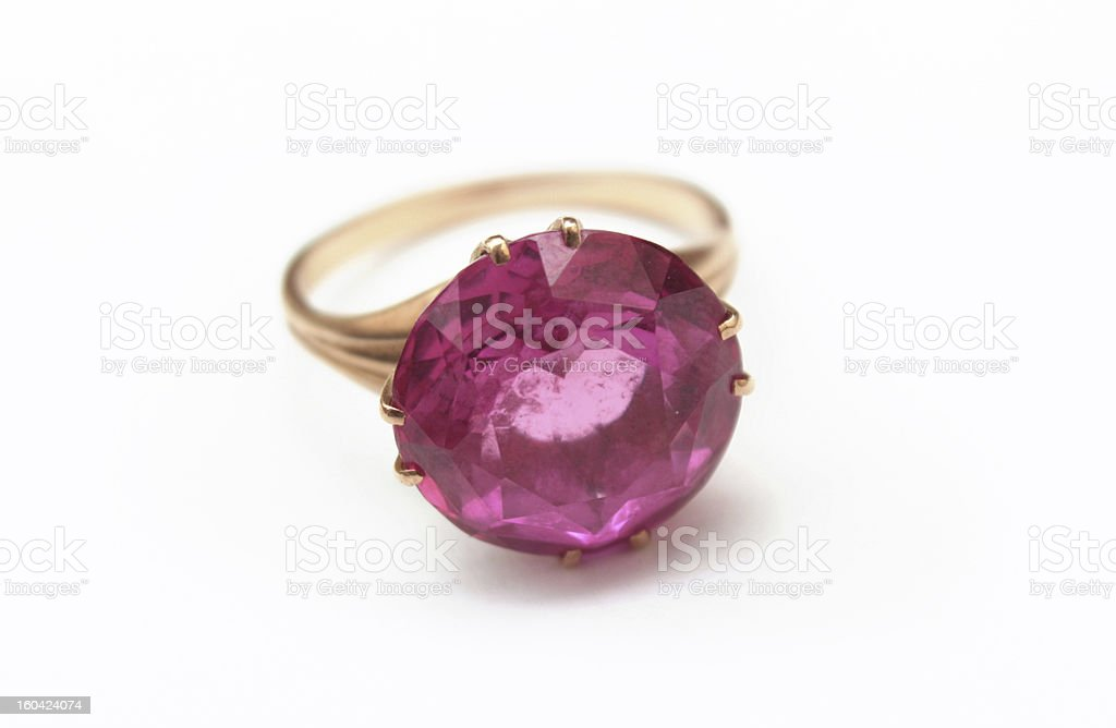 golden ring with gemstone royalty-free stock photo