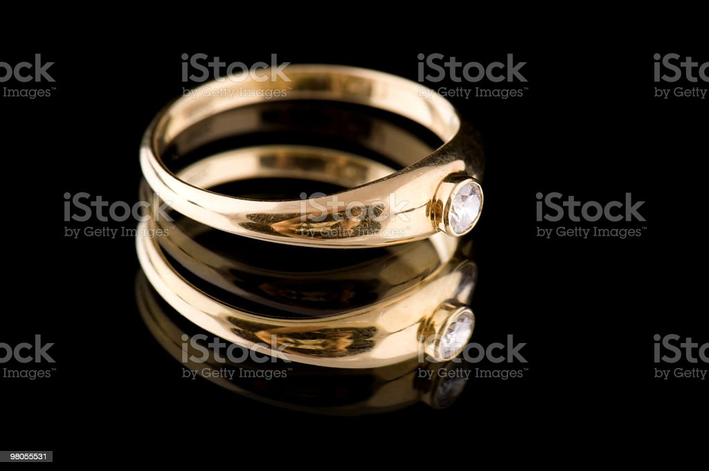Golden rings macro royalty-free stock photo