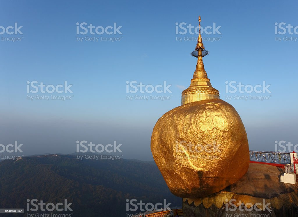 Golden Rock at sunrise royalty-free stock photo