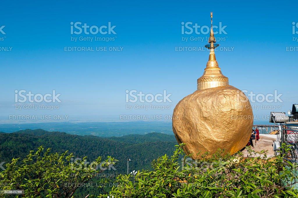 Golden Rock, Kyaiktiyo, Burma stock photo