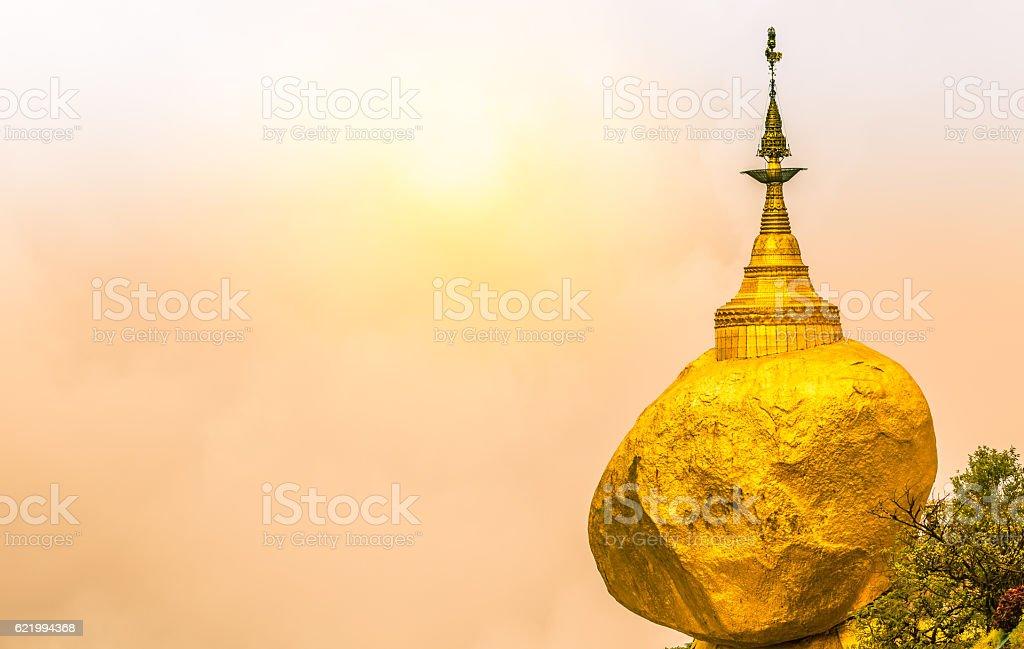 Golden Rock, Kyaiktiyo Pagoda stock photo