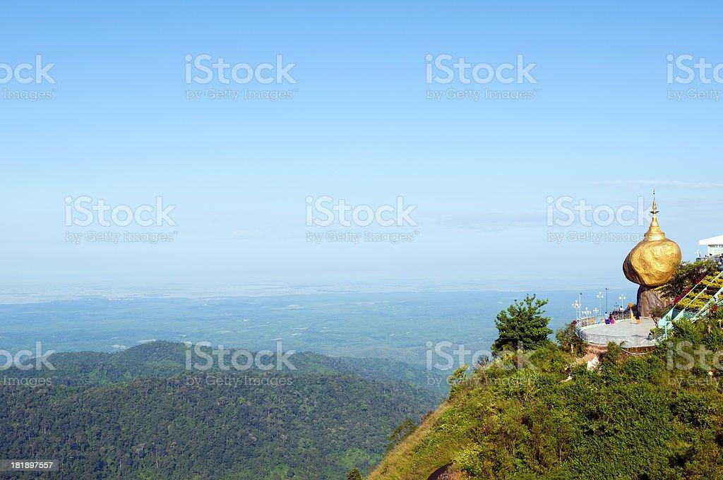 Golden Rock Myanmar stock photo