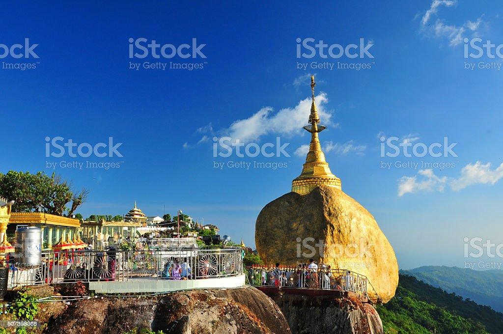 Golden Rock, Myanmar stock photo