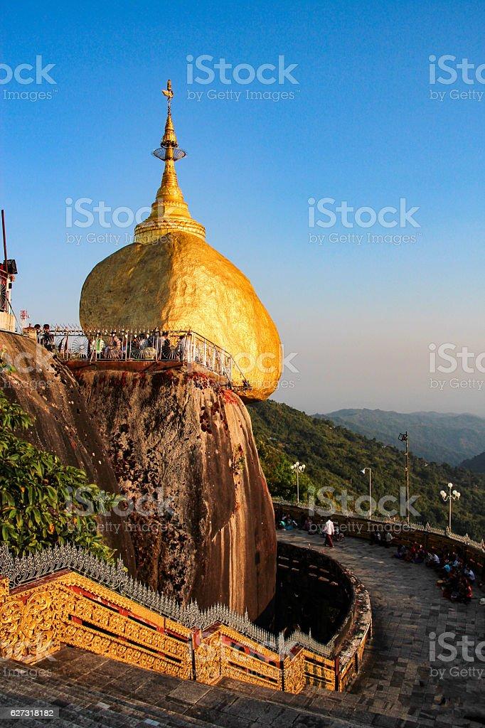 Golden Rock (Kyaiktiyo), Myanmar stock photo