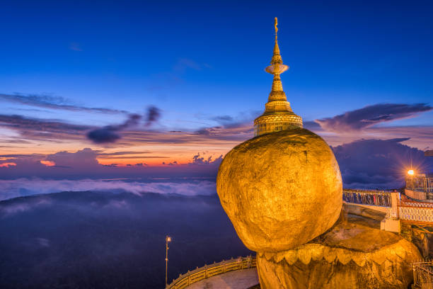 Golden Rock Myanmar Kyaiktiyo, Myanmar at Golden Rock. myanmar stock pictures, royalty-free photos & images