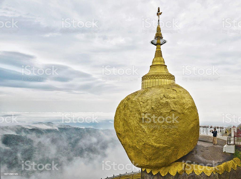 Golden Rock stock photo