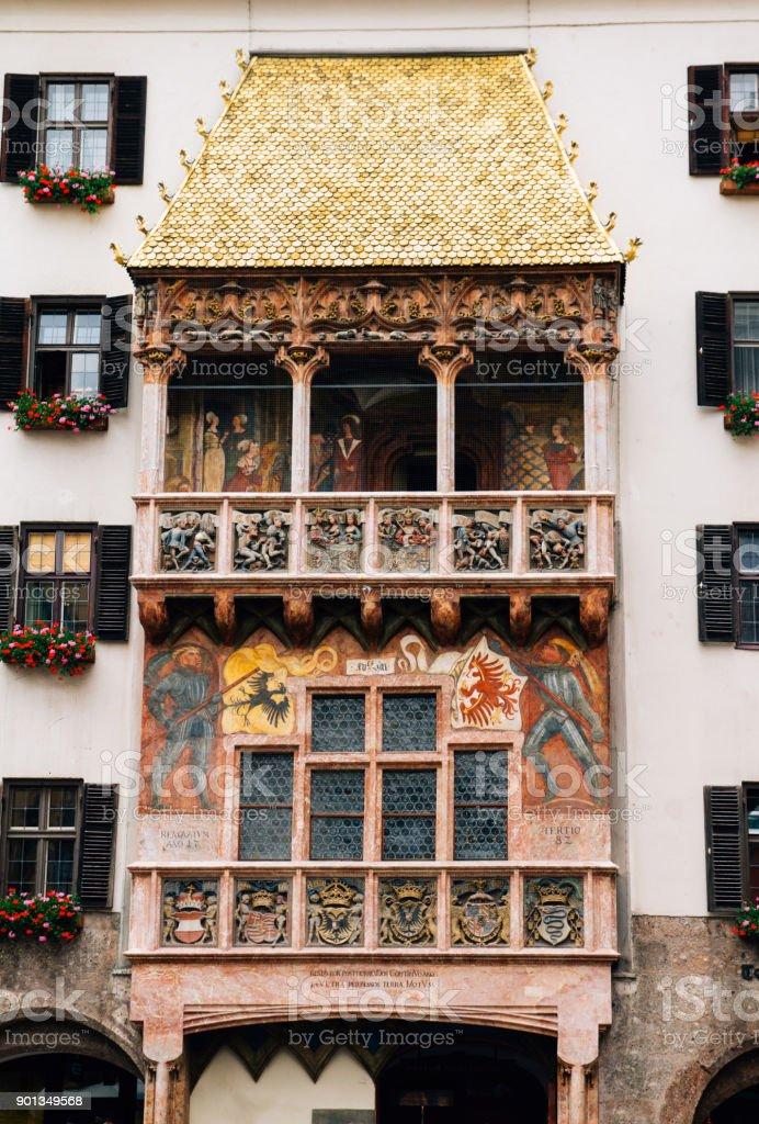 Golden roof famous landmark in Innsbruck Austria stock photo
