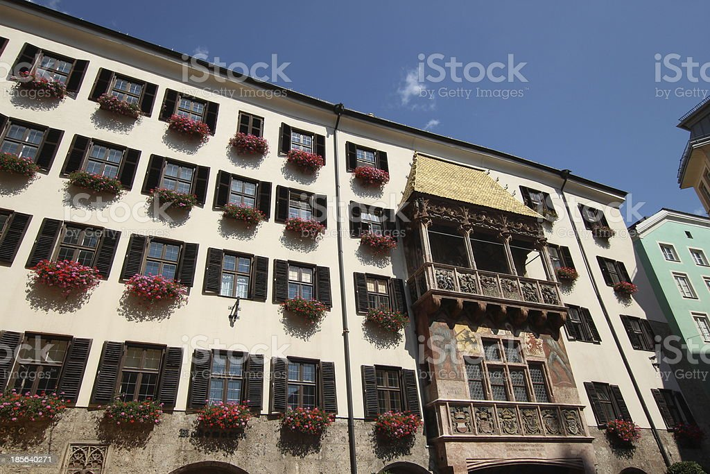 Golden Roof, Goldenes Dachl, Centre of Historic Old Town, Innsbruck stock photo