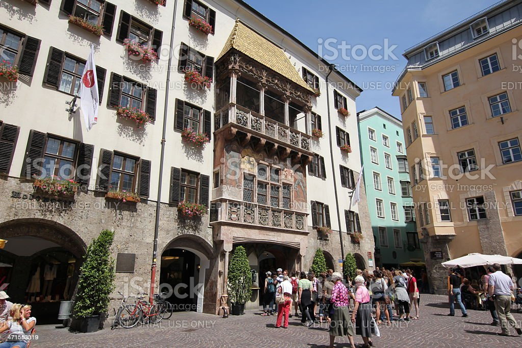 Golden Roof in Centre of Historic Old Town, Innsbruck, Austria royalty-free stock photo