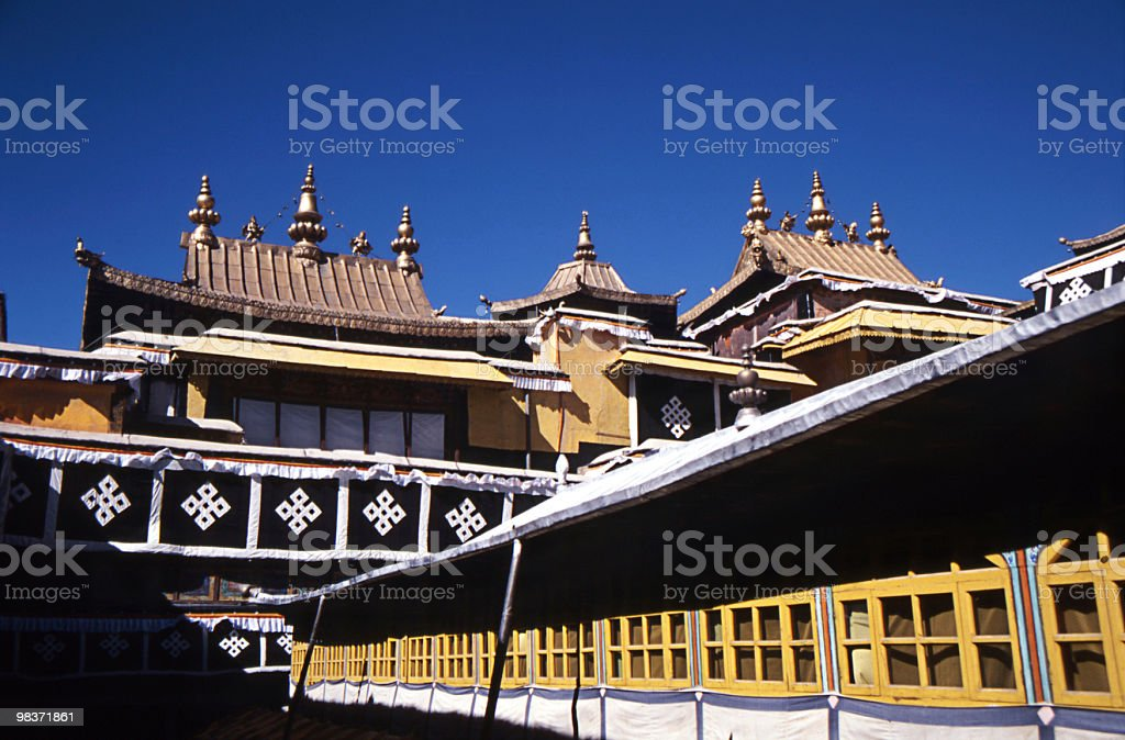 golden roof of potala palace royalty-free stock photo