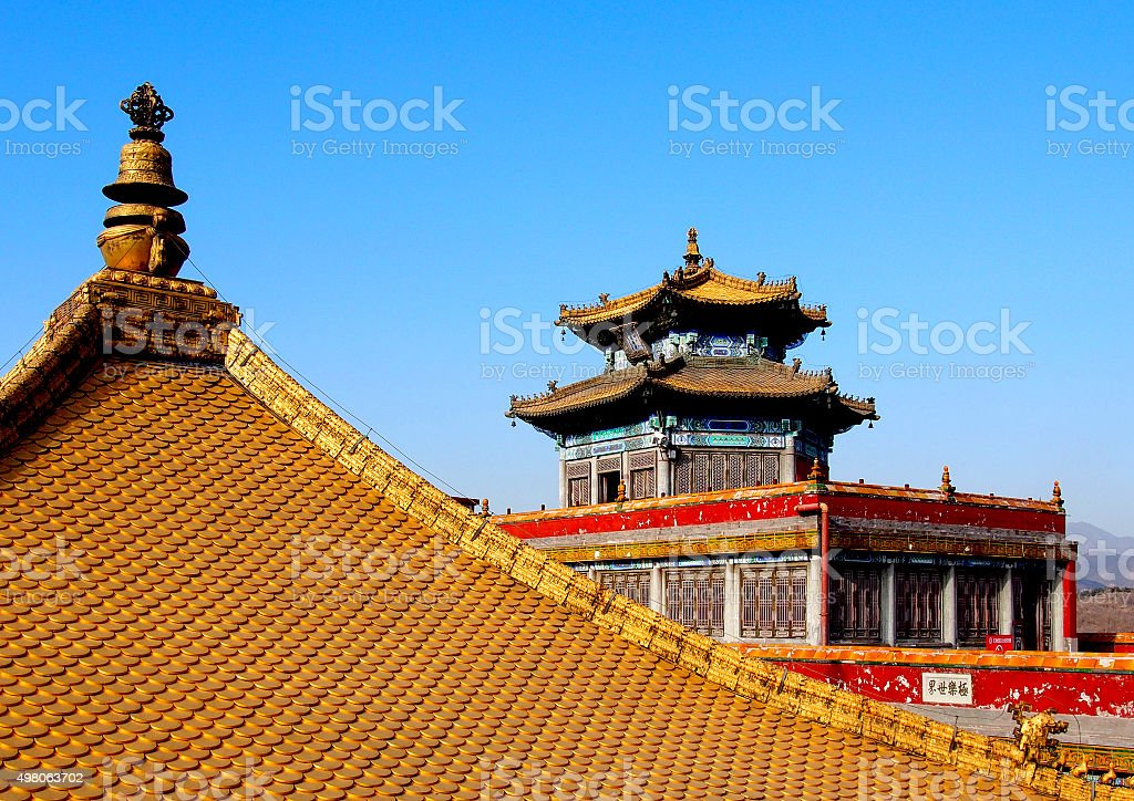 Golden Roof Temple in China stock photo