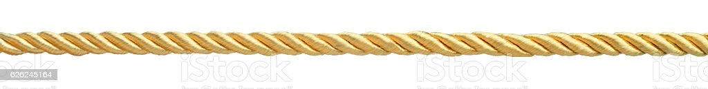 Golden rope stock photo