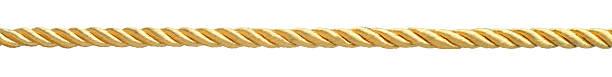 Golden rope stock photo