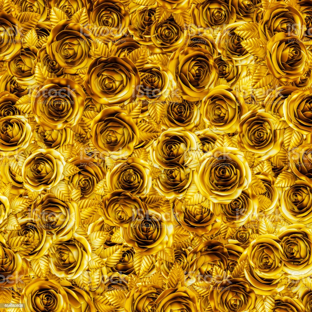 Golden roses background stock photo