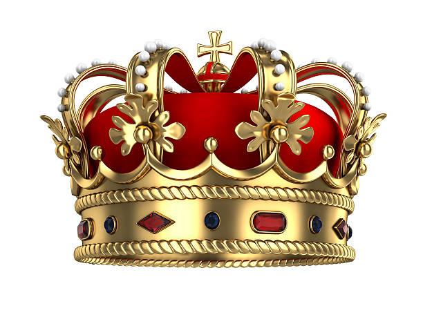 golden royal crown - könig stock-fotos und bilder