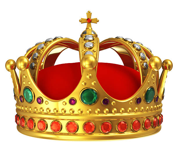 golden royal crown - crown stock photos and pictures