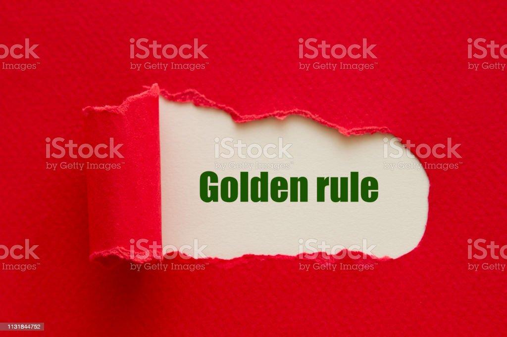 Altın kural stok fotoğrafı