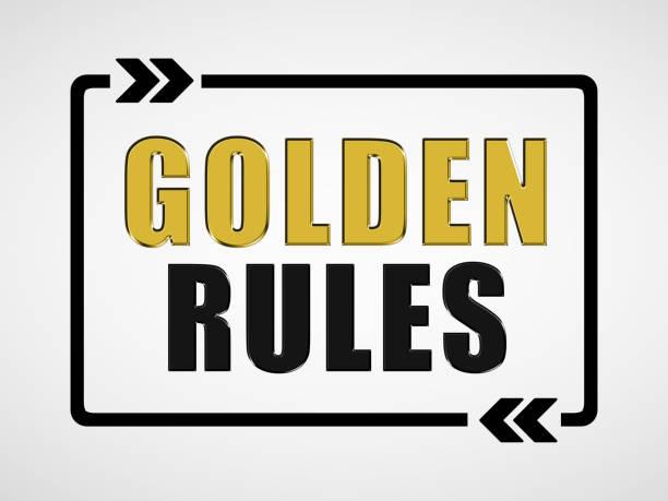 Goldene Regeln - Business-Konzept – Foto