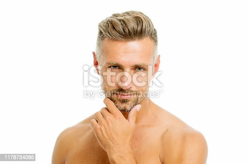 istock Golden rules of shaving. Barber hairdresser and self care. Male fashion and beauty. Bearded hipster shaving. Man handsome appearance well groomed bristle close up. Preparation for comfortable shaving 1178734095